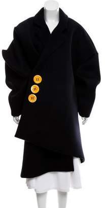 Jacquemus Asymmetrical Wool Coat