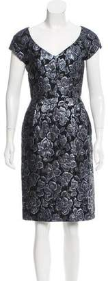 Barbara Tfank Embroidered Knee-Length Dress