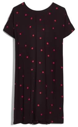 Madewell Downtown Dot Print Tie Back Dress