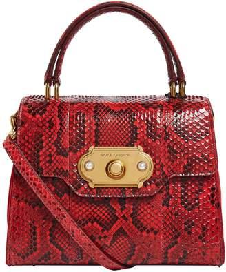 Dolce & Gabbana Small Python Welcome Top Handle Bag