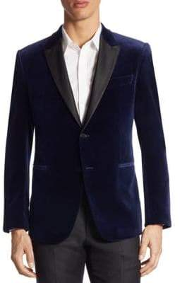 Emporio Armani Satin-Trim Velvet Dinner Jacket