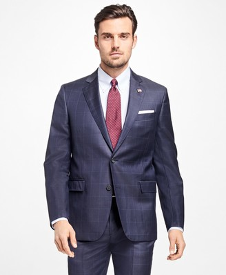 Brooks Brothers Regent Fit Plaid with Windowpane 1818 Suit
