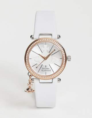 Vivienne Westwood VV006RSWH Orb Pastelle leather watch