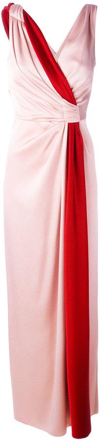 Paule KaPaule Ka contrast sash evening gown