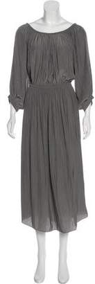 Smythe Pleated Midi Dress