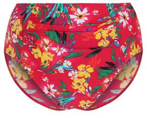 George Red Floral High Waist Bikini Bottoms