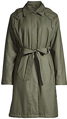 Rains Women's Hooded Trench Coat