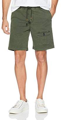 Michael Bastian Men's Signature Dyed Garment Washed Pull on Pocket Short