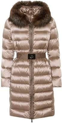 Moncler Fur-trimmed puffer coat