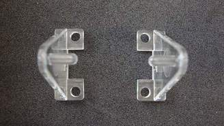 clear Hold Down Plastic Bracket For 2 inch Horizontal Blind- Pack of 10