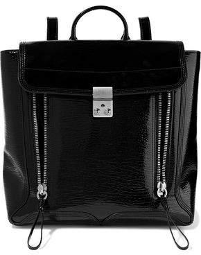 3.1 Phillip Lim Pashli Textured Patent-Leather Backpack
