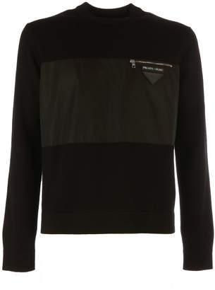 Prada Zipped Chest Pocket Sweater