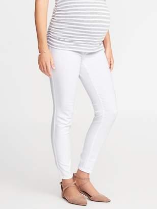 Old Navy Maternity Premium Full-Panel Rockstar White Jeans