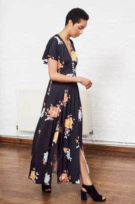 French Connection Shikoku Spaced Jersey Maxi Dress