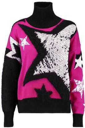 Just Cavalli Intarsia-Knit Wool-Blend Turtleneck Sweater