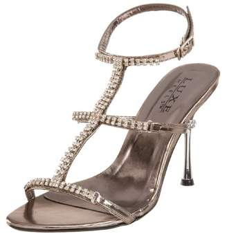 Pleaser USA Women's Jewel-27 Tri Band T-Strap Sandal