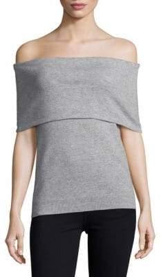 Saks Fifth Avenue BLACK Knitted Off-The-Shoulder Top