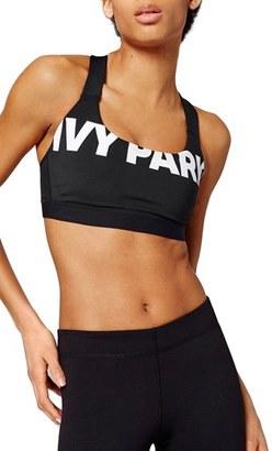 Women's Ivy Park Logo Sports Bra $36 thestylecure.com