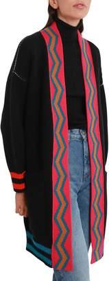 M Missoni Black Open Pea Coat