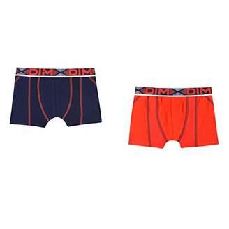Dim Boy's Lot De 2 Boxers 3D Flex Air Swim Trunks, (Dark Grey 28), (Size: 12A) Pack of 2