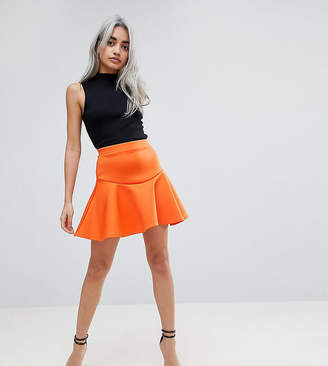 Asos Scuba Mini Skirt with Frill