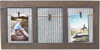 "Sheffield Home 4"" x 6"" Distressed Wood & Galvanized Metal Picture Frame"