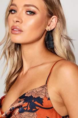 boohoo Tiered Tassel Earrings