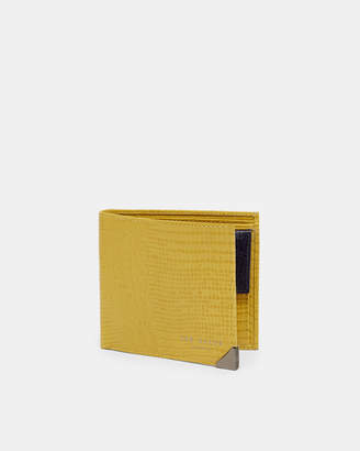 Ted Baker LIZHURL Lizard-effect leather bi-fold wallet