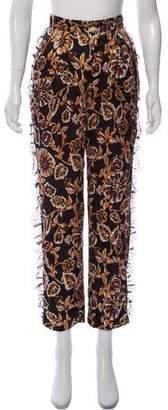 Rodarte Silk Printed Pants