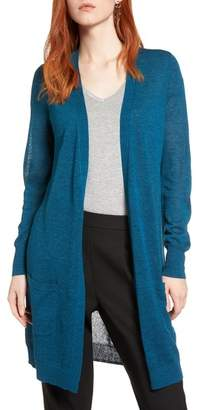 Halogen Long Linen Blend Cardigan