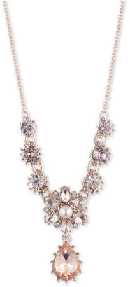 """Marchesa Rose Gold-Tone Crystal Statement Necklace, 16"""" + 3"""" extender"""