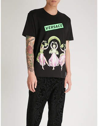 Versace Cupid and Psyche-print cotton-jersey T-shirt