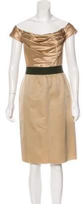 Dolce & Gabbana Satin-Paneled Sheath Dress