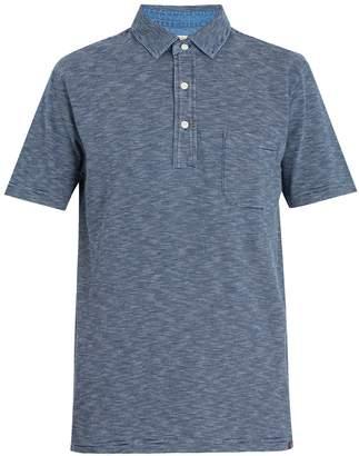 Faherty Striped cotton-jersey polo shirt