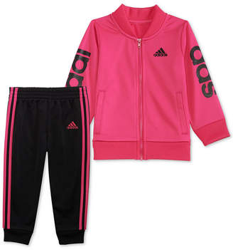 adidas Baby Girls 2-Pc. G-Love Track Jacket & Jogger Pants Set
