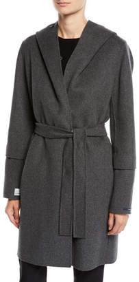 Max Mara The Cube Here is the Cube Collection Reversible Hooded Wool Coat
