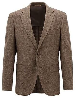 HUGO BOSS Regular-fit blazer in a virgin-wool-blend tweed