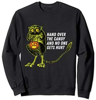 Funny Tarsier Trick or Treat Halloween Monkey Sweatshirt