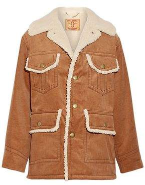 Marc Jacobs Faux Shearling-Lined Cotton-Corduroy Coat