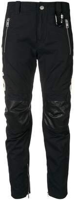 Diesel fitted biker trousers