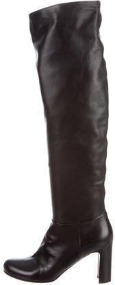 pradaPrada Leather Knee-High Boots w/ Tags