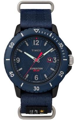 Timex Men's Expedition Gallatin Solar Blue Watch, Nylon Slip-Thru Strap