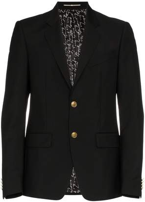 Givenchy single breasted wool mohair-blend blazer