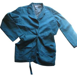 Nicole Farhi Turquoise Cotton Jacket for Women