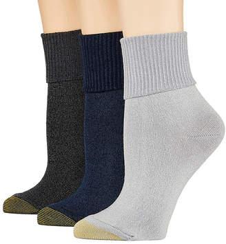Gold Toe Ultra Soft 3 Pair Turncuff Socks - Womens