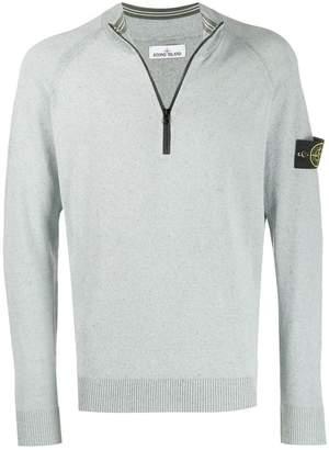 Stone Island zip neck sweater