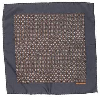 Hermes Rope Print Silk Pocket Square