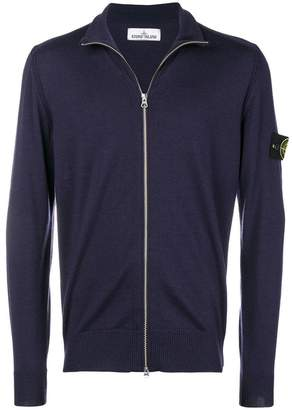 Stone Island logo patch sleeve cardigan