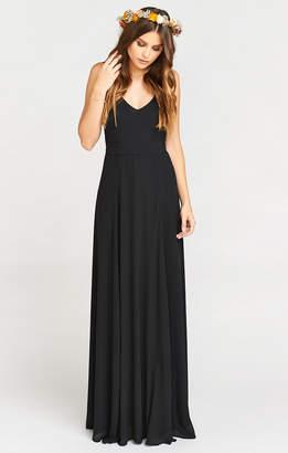 Show Me Your Mumu Jenn Maxi Dress ~ Black Chiffon