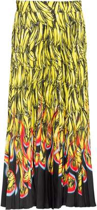 Prada banana print pleated skirt